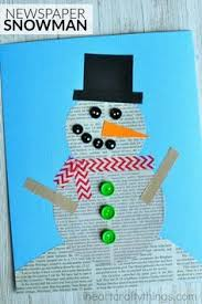 This Recycled Newspaper Snowman Craft Is Simple For Kids To Make Great Winter Preschool And Fun