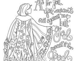 Josephs Coat Of Many Colors Coloring Page 85X11 Bible Journaling Tip In 6X8