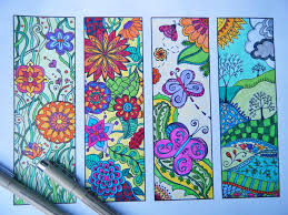 Bookmark Flowers To Print And Color