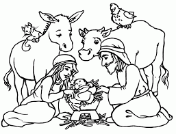 Nativity Free Coloring Pages Printable