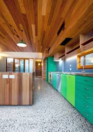 View In Gallery Contemporary Kitchen With Colorful Cabinets