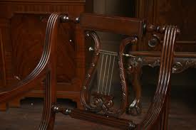 Lyre Back Chairs Antique by Lyre Back Dining Room Chairs Lyre Back Dining Chairs Pair Of Arms