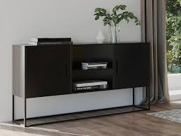 homexperts sideboard rich aus metall breite 120 cm kommode in schwarz