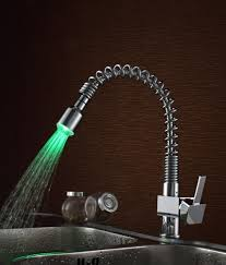 lovable kitchen faucet with color changing led light and pull