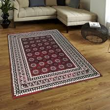 casablanca phenomen plus rot weiß teppiche kurzflor rechteck