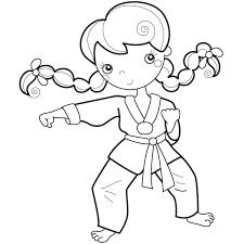 Coloriage Karate Les Beaux Dessins De Sport à Imprimer Et