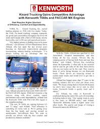 100 Kinard Trucking 40 Free Magazines From KENWORTHCOM