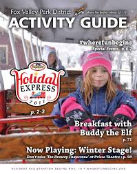 Fox Valley Park District Winter Activity Guide