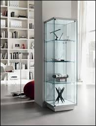furniture amazing small glass display with shelves glass