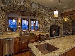 Primitive Kitchen Countertop Ideas by 31 Best Log Home Kitchens Images On Pinterest Log Home Kitchens