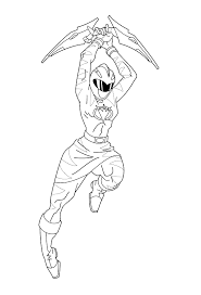 Pink Dino Thunder Ranger Coloring Pages