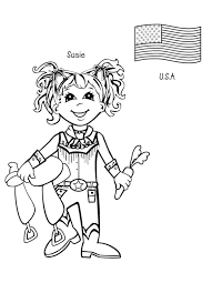 Susie Is From USA Coloring Page