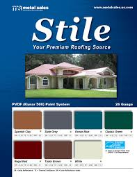 stile simulated clay tile panels metal sales manufacturing