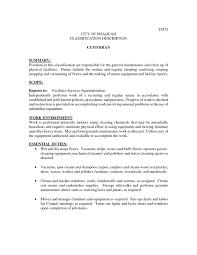 Download Our Sample Of 10 Best Janitor Job Description Resume Rh Mhwaves Com Custodian Examples