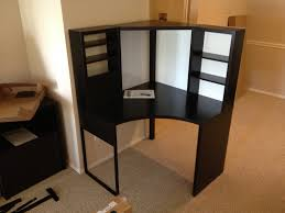 Ikea Besta Burs Desk Black by Decorating Chic Ikea Micke Desk In White And Black With Hutch And