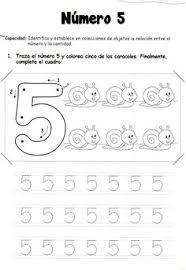 18 FICHAS NUMERO 5 Edu for kids Pinterest