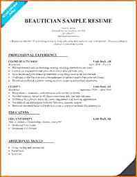 Graduate Resume Example From Cosmetology Samples Cosmetologist Sample Examples In