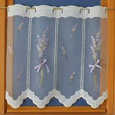 rideaux cuisine rideaux de cuisine brise bise en voilage brodé