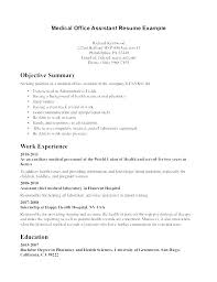 Medical Receptionist Resume Duties Resumes For Office Jobs Front Desk Sample Job First Officer Description Entry Level