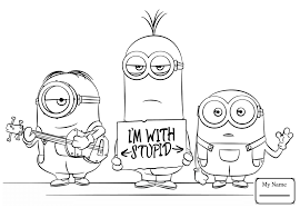 Coloring Pages Despicable Me Cartoons Minion Phil