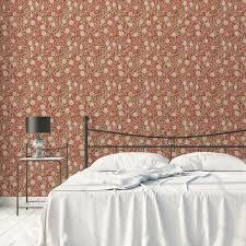 retro jugendstil tapete granatapfel baum nach william morris rote vlies tapete blumentapete für schlafzimmer
