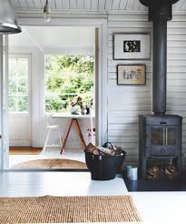 Rustic Wood Burning Stove In The Living Room Of A Summer Cottage On North Coast Zealand Denmark Photo By Martin Dyrlov For Bolig Magazine