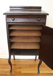 antique mahogany record cabinet 3