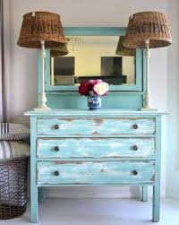 Rustic Painted Dresser Distressed Furniture Ideas For A Coastal Beach Look 2