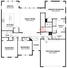 Ryland Homes Floor Plans Georgia by Carolina Place Floorplan 1716 Sq Ft The Villages At Two