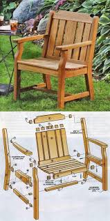 Folding Adirondack Chair Woodworking Plans by Garden Chair Plans Outdoor Furniture Plans U0026 Projects