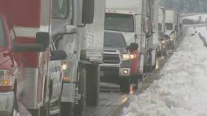 100 Central Oregon Truck Winter Storm Wallops Gorge