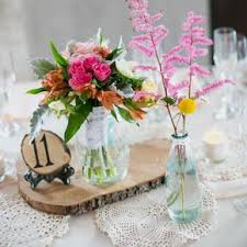Centerpiece With Vintage Jars And DIY Crochet Doilies