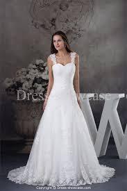 straps court train satin corset back wedding dress fashion fuz