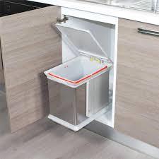 poubelle inox cuisine poubelle de cuisine encastrable en inox dravyn 16 litres
