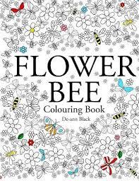 Flower Bee Zen Garden Art Therapy Adult Colouring Book Calm Relaxing 2015