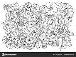 Dibujado A Mano Trébol De Cuatro Hojas Para Colorear Páginas Para