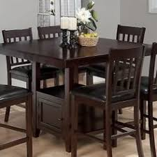 9 Piece Dark Solid Wood Counter Height Pub Set Table Chair Dining Kitchen Room