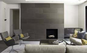 Creative Black Ceramic Flooring Tile And Granite On Contemporary Fireplace Ideas For Your Interior Along With White Fabric Sofa Wooden