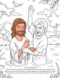 Jesus Christ Is Baptized Coloring PagesJesus