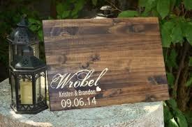 Slab Guest Book Rustic Wedding Alternative