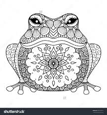Hand Drawn Zentangle Frog For Coloring Book Adult Vector De Stock