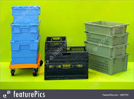 Warehouse Buildings Plastic Boxes And Crates For Logistic Transportation