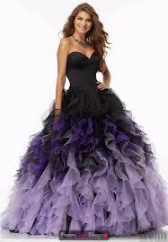 2017 black purple ball gown prom dresses sweetheart ruffles