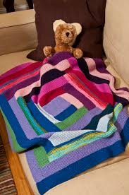 Classic Elite Yarns Liberty Wool Print Log Cabin Blanket