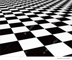 black and white tiles illustration