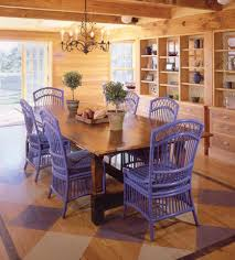 Blue Painted Furniture In The Dining Room Of A Massachusetts Beach House