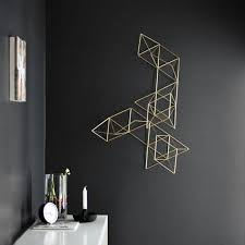Minimalist Geometric 3D Wall Art Stands Out On A Black