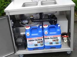 portable self contained sink propane hot water model youtube