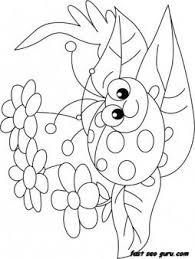 Free Print Out Happy Face Ladybug Coloring Page For Kids