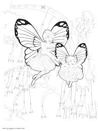 Printable Barbie Mariposa And The Fairy Princess Coloring Pages